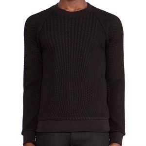 [Theory] Textured Black Tornt Sweater